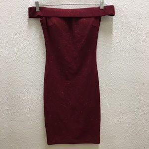 Sparkling red mini dress